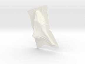 Shroud shape penholder 008 in White Processed Versatile Plastic