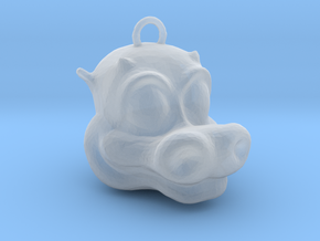 Little Dragon Head in Smooth Fine Detail Plastic