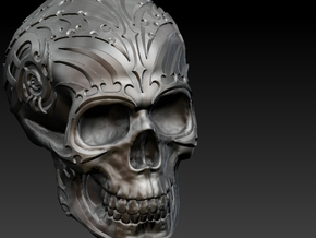 Skull mechanical in White Strong & Flexible Polished