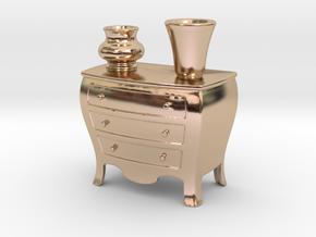 Dresser Pen Holder Or Place Card in 14k Rose Gold Plated Brass