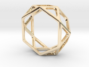Structural Ring size 10 (multiple sizes) in 14k Gold Plated Brass