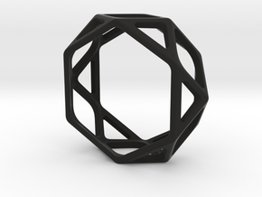 Structural Ring size 10 (multiple sizes) in Black Natural Versatile Plastic