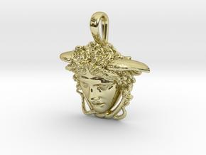 Medusa Rondanini pendant in 18k Gold Plated Brass