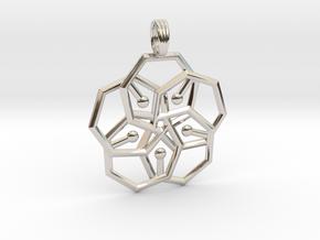 MIDNIGHT STAR in Rhodium Plated Brass