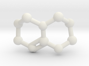 Triazabicyclodecene (TBD) Molecule Necklace in White Natural Versatile Plastic