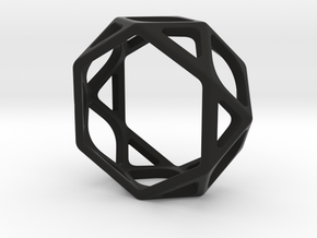 Structural Ring size 6 in Black Natural Versatile Plastic