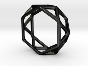 Structural Ring size 9,5 in Matte Black Steel