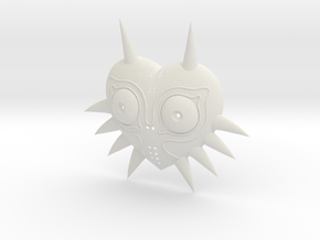 Majoras Mask (Ornamental) in White Natural Versatile Plastic