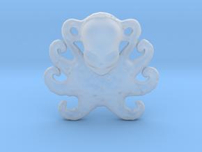 Octopus Pendant in Smooth Fine Detail Plastic