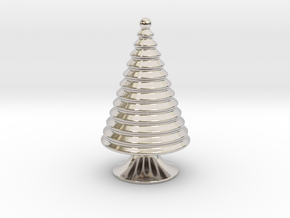 Christmas Tree Place Card in Rhodium Plated Brass