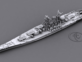 1/2400 IJN BB Yamato [1945] in Smooth Fine Detail Plastic