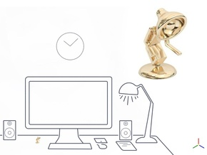 """Lala says, """"Shake hand with me"""" - Desktoys in 14K Yellow Gold"""