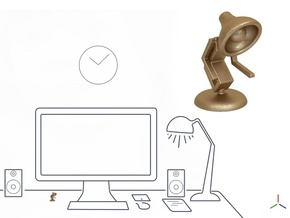 "Lala says, ""Shake hand with me"" - Desktoys in Matte Gold Steel"