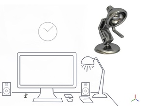 """Lala says, """"Shake hand with me"""" - Desktoys in Polished Silver"""