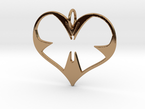 Butterfly Heart in Polished Brass