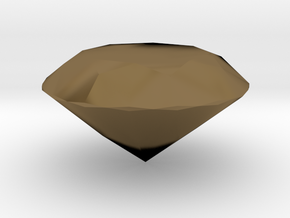 Solid Diamond in Polished Bronze
