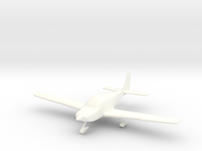 Cirrus SR22 Aircraft in 1/96 scale in White Strong & Flexible Polished