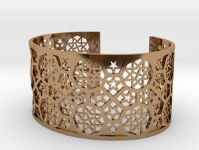 Bracelet Fatehpur Sikri India - Silver L (187mm) in Polished Brass