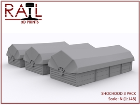 N Gauge - SHOCHOODS - 3 Pack in Smooth Fine Detail Plastic