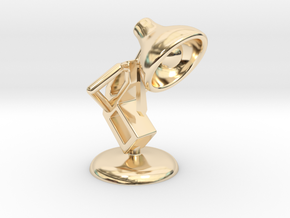 Lala - Trying Tie - DeskToys in 14k Gold Plated Brass
