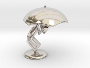 Lele with Umberlla - DeskToys in Rhodium Plated Brass
