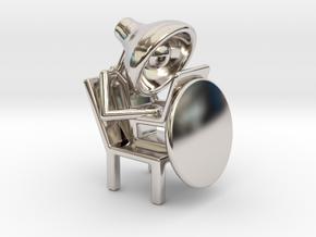 Lala - Working in computer - DeskToys in Platinum