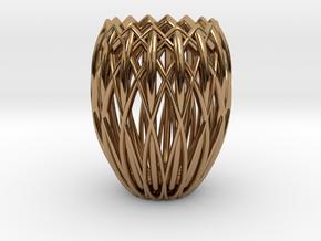 Basket Candlestick 4.5cm in Polished Brass