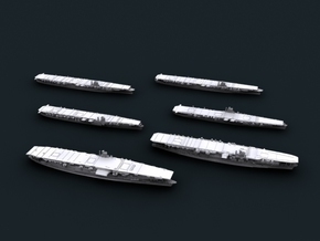 1/4800 IJN Pearl Harbor Strike CVs in Smooth Fine Detail Plastic