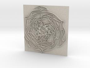 Flower3 in Natural Sandstone