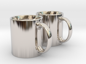 Mug Earrings in Platinum