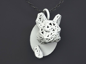 Bulldog Pendant in White Strong & Flexible Polished