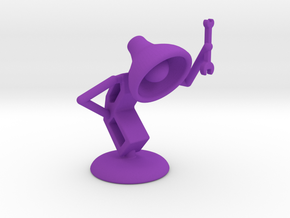 "Lala as ""Mechanic"" - DeskToys in Purple Processed Versatile Plastic"