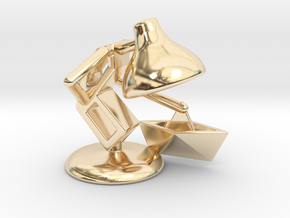 "JuJu - ""Playing with paper boat"" - DeskToys in 14k Gold Plated Brass"