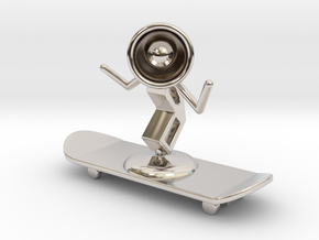 Lala - Skating - DeskToys in Platinum