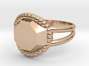 Size 8 Diamond Ring A in 14k Rose Gold