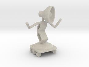 Lala - with Skating Shoe - DeskToys in Natural Sandstone