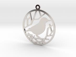 Christmas tree ornament - Bird in Platinum