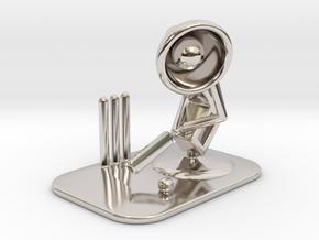 "Lala ""Playing Cricket"" - DeskToys in Rhodium Plated Brass"