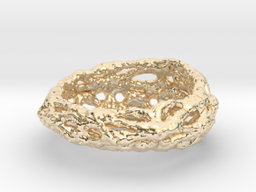 Cellulesque Ring in 14k Gold Plated Brass