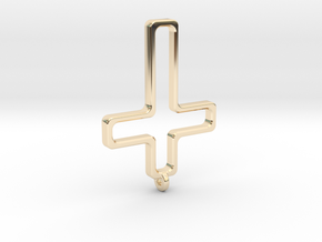 Hollow Cross in 14K Yellow Gold