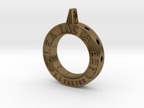 Alea Iacta Est in Polished Bronze