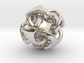 Metatron 12mm Thickened For Polished Silver in Rhodium Plated Brass