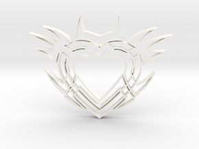 Heart2b in White Processed Versatile Plastic
