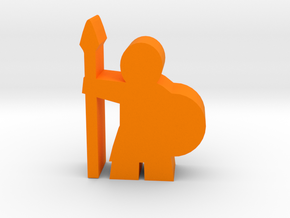 Game Piece, Spearman in Orange Strong & Flexible Polished