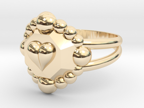 Size 6 Diamond Heart Ring E in 14K Yellow Gold
