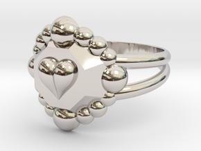 Size 10 Diamond Heart Ring E in Platinum