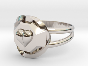 Size 6 Diamond Heart Ring F in Platinum