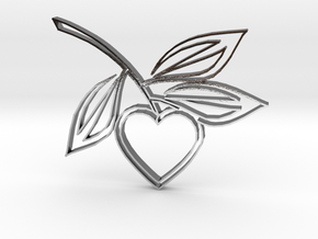 Heart1b in Polished Silver