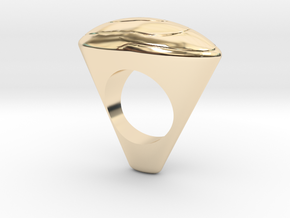 Ring arts oval in 14k Gold Plated Brass