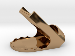 Pen Holder For Pens or Phone in Polished Brass